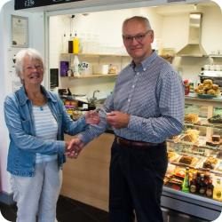 Coffee Shop Donates £5,000 to Village Hall Trust