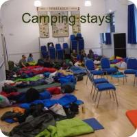 Camping in the Village Hall